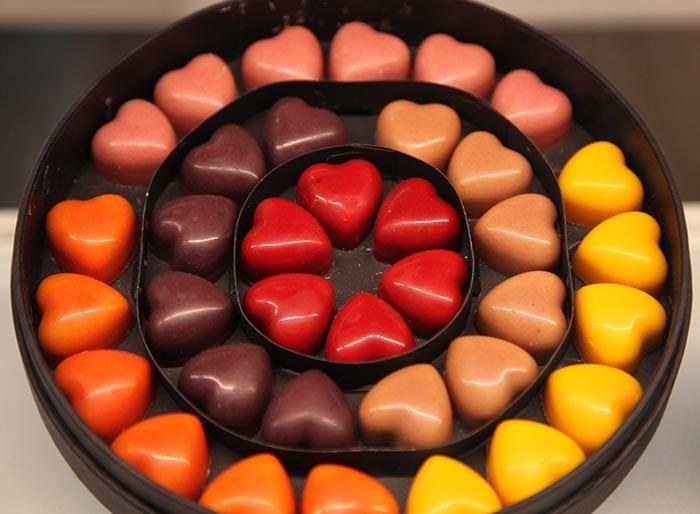 Los bombones con forma de corazón, un clásico del chocolatero Pierre Marcolini