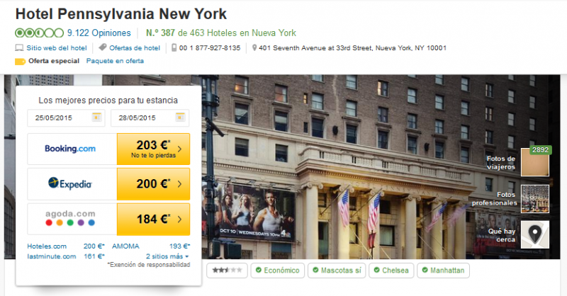 Captura web de TripAdvisor