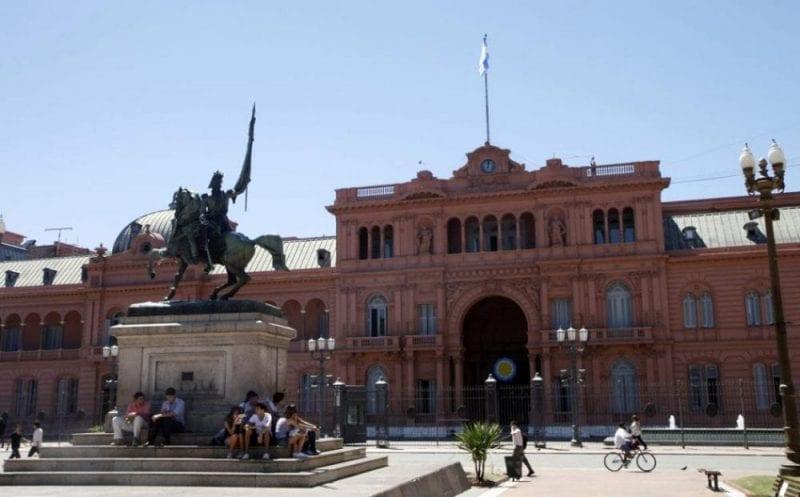 Fachada de la casa Rosada de Buenos Aires