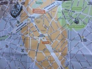 Plano de la zona de Matonge
