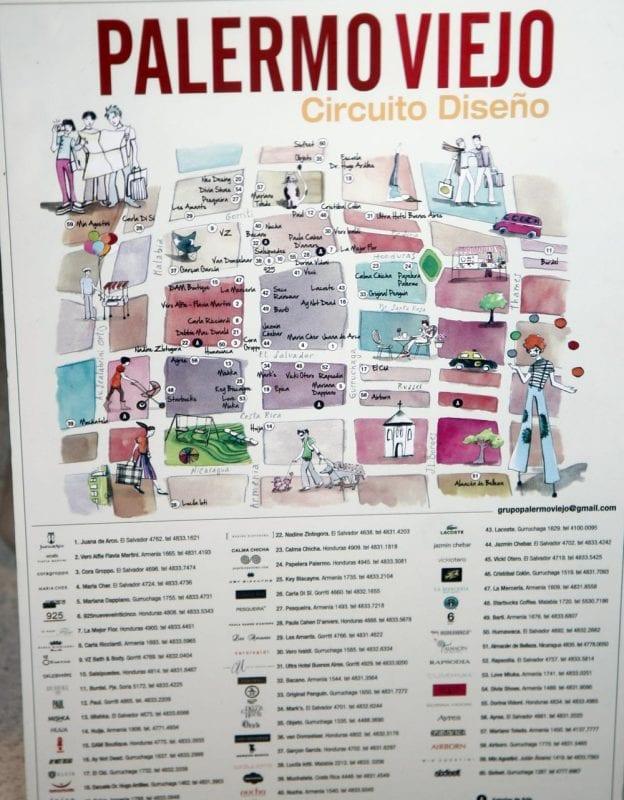Plano del barrio de Palermo Viejo