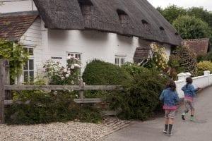 Detalle de las casas de Avebury pueblo