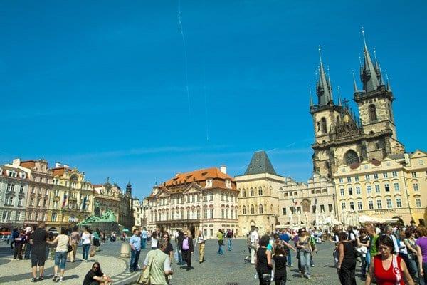 Panoramica de la plaza Stare Mesto en Praga