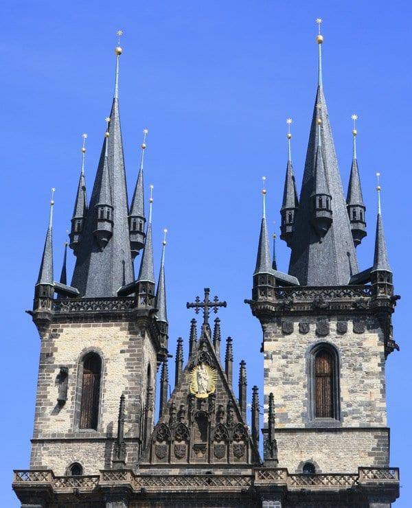 Las torres de la iglesia de Tyn, las más fotografiadas de Praga