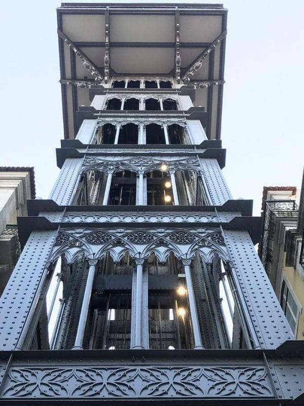 El elevador de Santa Justa de estilo neogótico