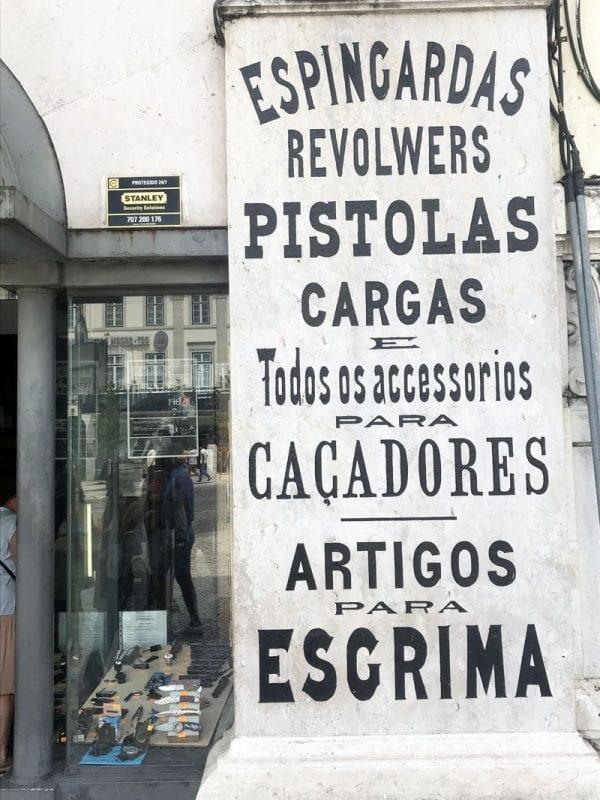 Tienda antigua de Lisboa