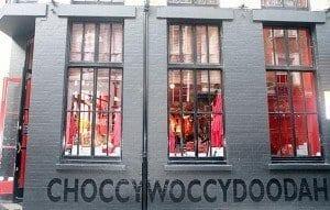 Fachada de la chocolatería Choccywoccy