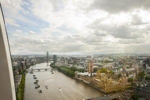 Vistas del Thamesis desde el London Eye