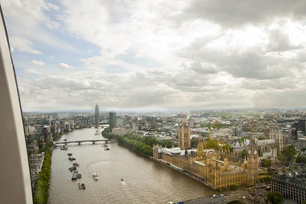 Vistas del Thamesis desde el London Eye