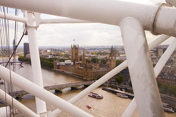 Casas del Parlemento desde el ojo de Londres