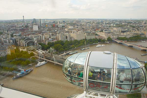 Subir al London Eye es una experiencia fantástica