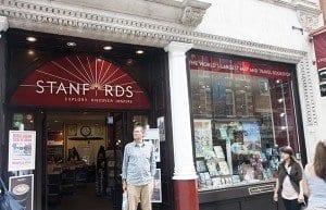 Entrada de la librería de viajes Stanfords en Londres
