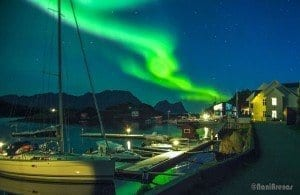 Aurora boreal senja Noruega