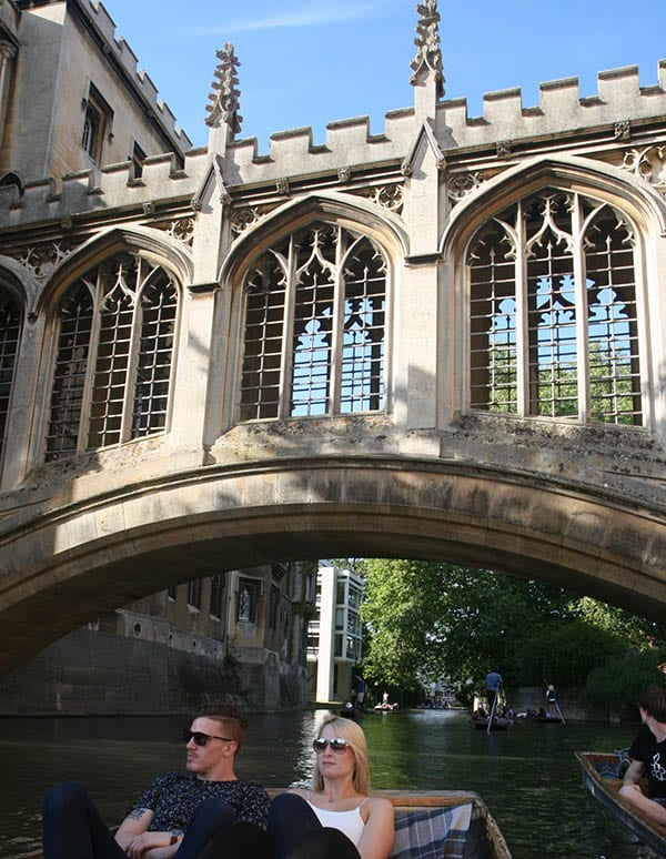 Puente de los suspiros de Cambridge
