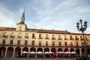 Detalle de la Plaza Mayor de León
