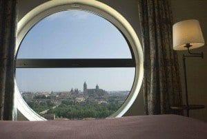 Vistas del centro de Salamanca desde una habitación del Parador