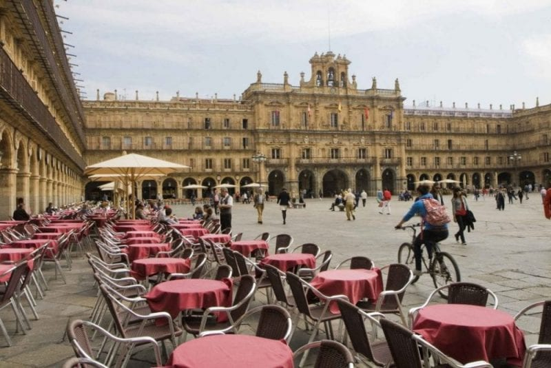 Salamanca Plaza Mayor bicicleta