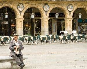 Detalle de la Plaza Mayor de Salamanca