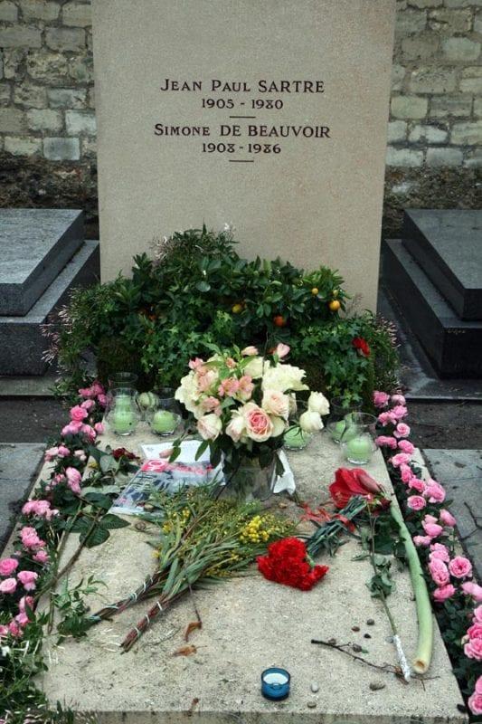 Sartre y Simone de Beauvoir descansan juntos