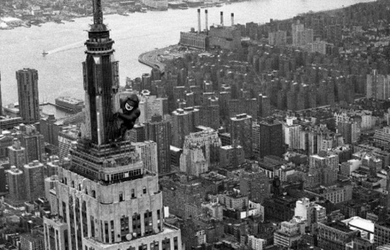 Escena de la película King Kong