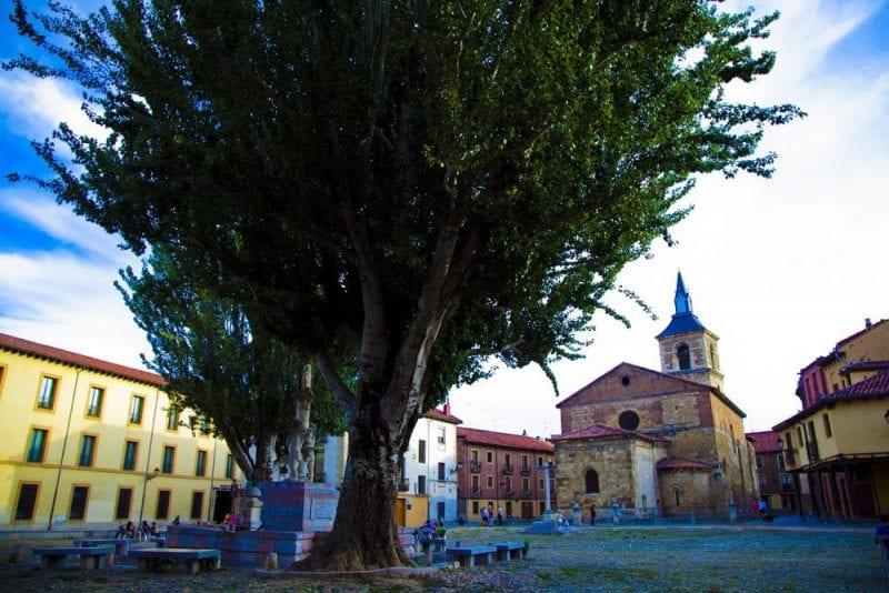 Plaza del Grano, en el barrio Húmedo de León