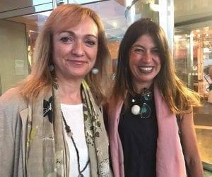 Nani Arenas con Cristina Morató