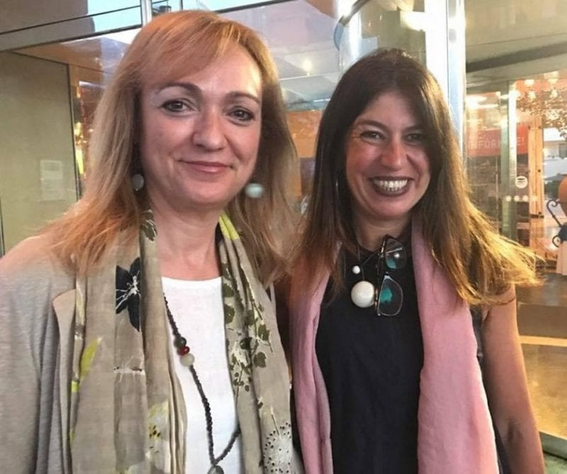Nani Arenas con Cristina Morató