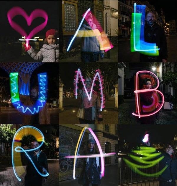 Cartel promocional de la campaña #AlumbraSevilla