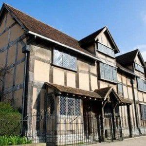 Casa natal Shakespeare está en Henley Street Stratford-upon-Avon Warwickshire