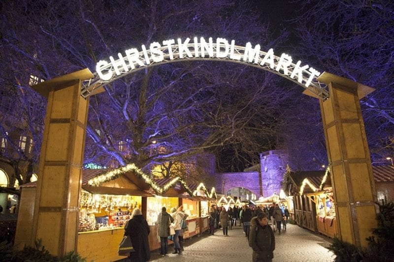 Mercadillo de Christkindlmarkt en Munich