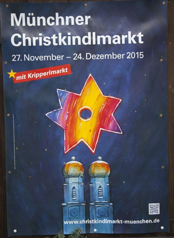 Cartel de Navidad Munich 2015