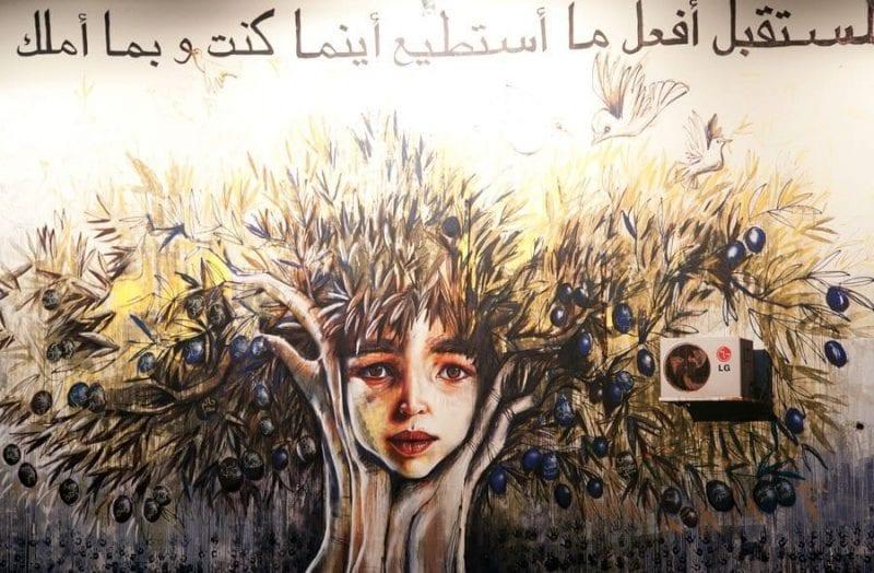 Imágen de la exposición sobre refugiados