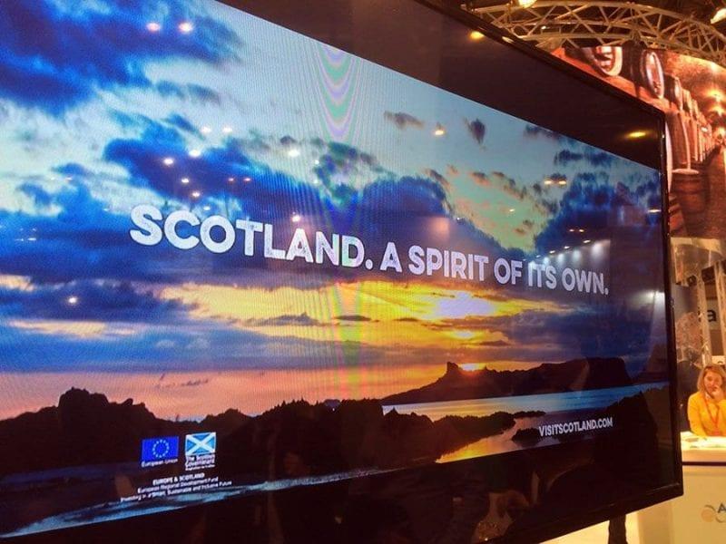 Escocia fue el único representante del Reino Unido en Fitur 2016, donde presentó su nueva imagen