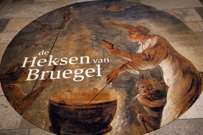 """Cartel de la exposición """"Las brujas de Bruegel"""""""