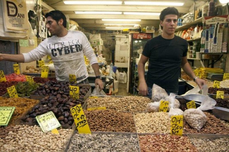Puesto especias en el mercado de Jerusalen