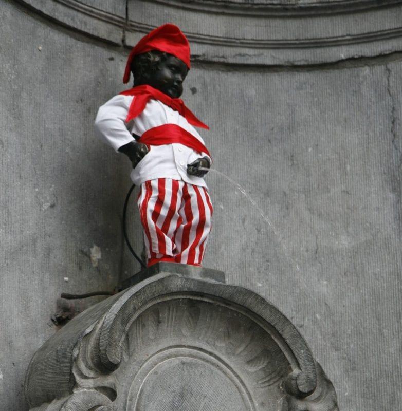 Los trajes con los que se ha vestido en Manneken Pis se guardan en un museo dedicado al personaje