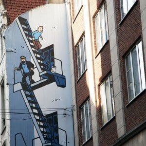 En Bruselas hay más de 50 fachadas dedicadas a personajes del comic
