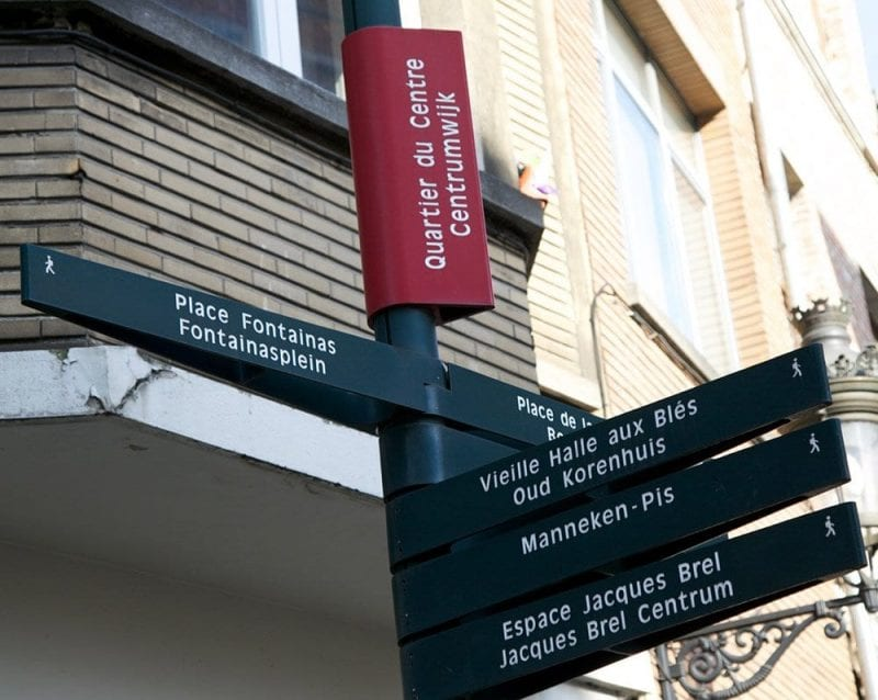 En Bruselas todas las direcciones están bien señalizadas