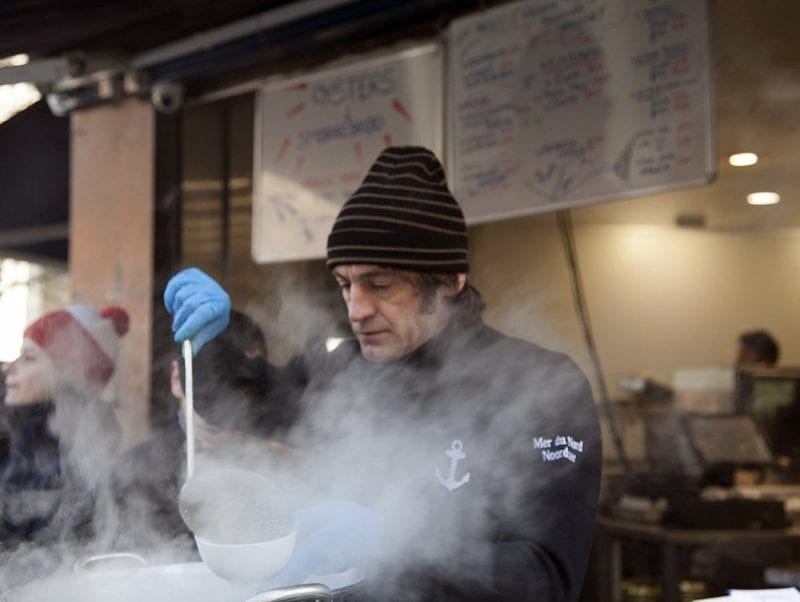 Los camareros del Mer do Nord llaman a los clientes por su nombre