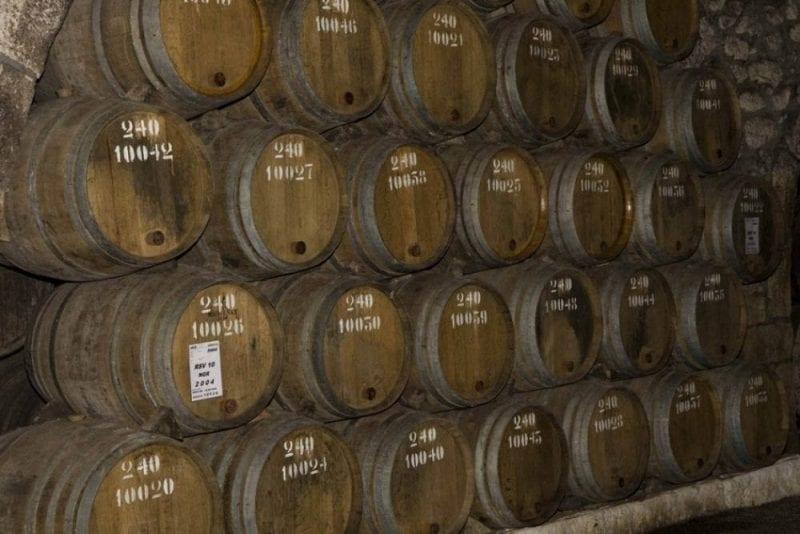 Barriles de vino de Oporto