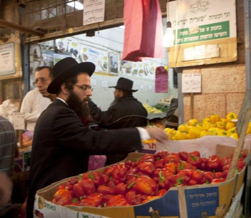 Puesto de comida en Jerusalen