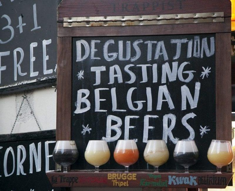 Degustación de cervezas típicas belgas