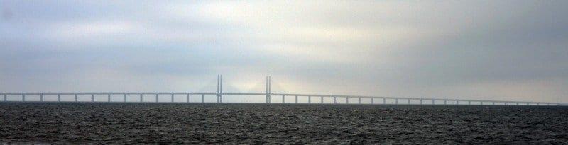 Panorámica del puente Oresund