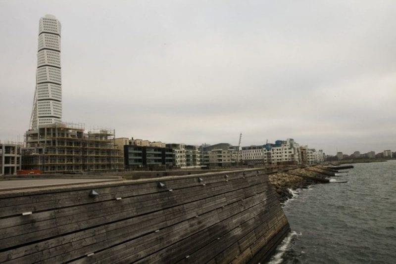 El Turning Torso se ubica en la zona de los viejos astilleros