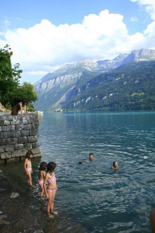 En el lago de Brienz está permitido el baño