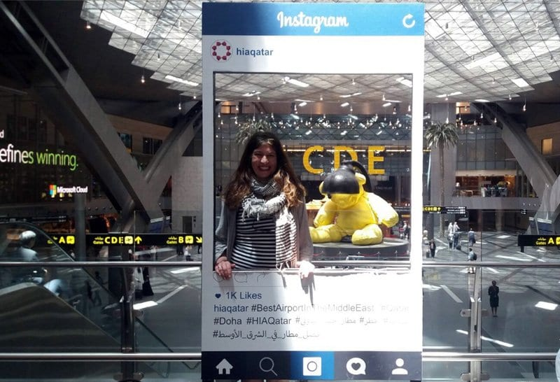 Photo Instagram en el aeropuerto de Doha