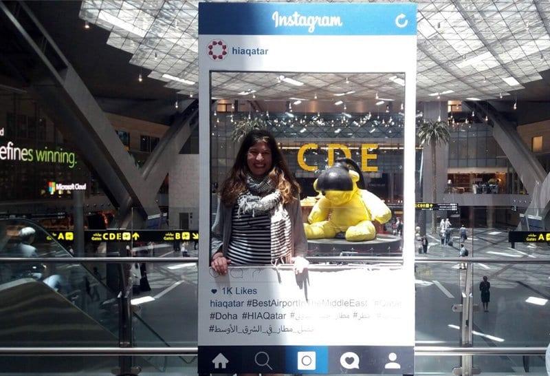 Photo Instagram en el aeropuerto de Doha