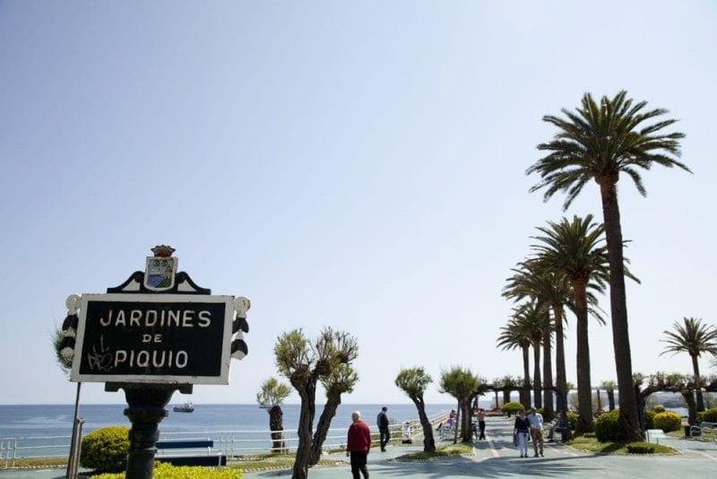 Los jardines del Piquío separan las dos playas del Sardinero
