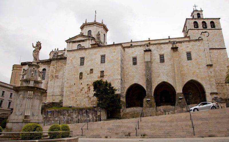 Fachada de la catedral de Santander