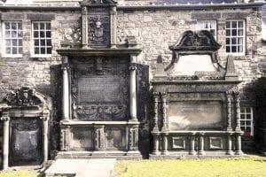 Detalle del cementerio de Greyfriers